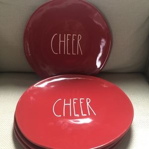 Rae Dunn Red Cheer Salad Plate